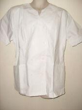Uniforme Túnica Blanca esteticista NHS cuidador Limpiador esteticista Chef Etc Talla 22