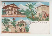 Farb - Litho Deutsche  Kolonien Gruss aus Tanga Dt. Ost- Afrika 1900