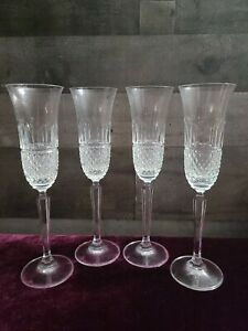 Kingsley by MIKASA Crystal Fluted Champagne Glasses Set of 4 Vintage