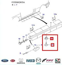 New! GENUINE FORD ESCORT COSWORTH SIDE SKIRT FITTING SCREWS + CLIPS x 12