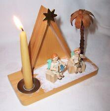 2 sitzende Engel vor Kapelle Musikanten alter Lichterhalter Erzgebirge - BILDER