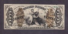 "US 50c Fractional Currency Note Letter ""a"" FR 1365 VF-XF"