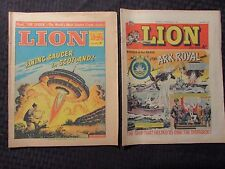 1964/65 The Lion Uk Fleetway Weekly NewspaperComic Vg/Vg+ Robot Archie Lot of 2