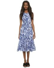 NWT Timo Weiland Blue Sleeveless Cutout Back Floral Print Dress Emilie SZ 0 $525