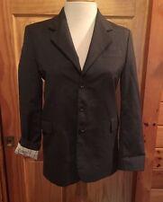BOYS BLAZER Studio Milano 16R grey Jacket Coat 3 Button Wool Boyfriend Italy