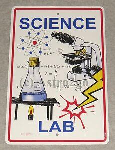 SCIENCE LAB--Crosswalks Metal 10 X 15 Science Fair Teacher Classroom Street Sign