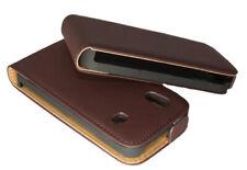 Premium Flip Case Tasche Schutzhülle für Samsung S5830 Galaxy Ace in braun Hülle