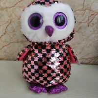 """New Ty Beanie Boos 6"""" Sparkle The Special Owl Plush Stuffed Toy Gift #1"""