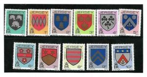 GB Jersey 1981-88 Arms of Jersey Families 1/2p to 10p set of eleven MNH