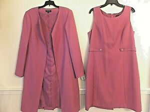 JOHN MEYER SUIT DRESS SIZE 16 LINED NEW $260 MSRP RASBERRY COLOR RARE!