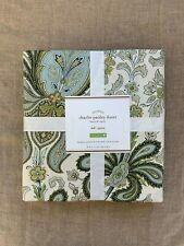 Pottery barn charlie Paisley Organic Queen Duvet Cover only blue