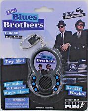 BLUES BROTHERS Talking Keychain Keyring Belushi Ackroyd Jake Elwood Movie Soul