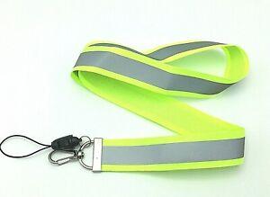Mens Lanyard ID Badge Holder Fluorescent Work Lanyard with Reflective Strip