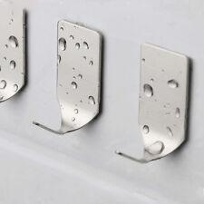 8Pcs Stainless Steel Self Adhesive Hooks Wall Door Hanger Bathroom Accessories