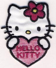 HELLO KITTY mit Herz - Aufnäher Aufbügler Applikation Patch Badge - OVP #9157