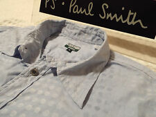 "PAUL SMITH Mens Shirt 🌍 Size XL (CHEST 44"") 🌎 RRP £95+ 🌏 SWIRLING POLKA DOTS"