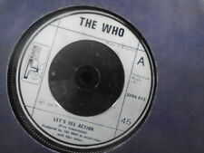 """THE WHO """" LET`S SEE ACTION  """" UK TRACK LABEL EX+ COND.IN Or. SL."""