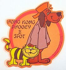 Original Hong Kong Phooey & Spot by Hanna Barbera Mini Iron On Transfer