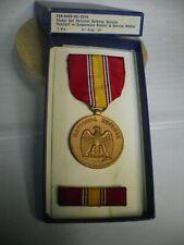 Us Armed Forces National Defense Service Medal & Ribbon Bar mfg'd in 1967