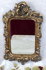 Spiegel Barock Wandspiegel gold Rahmen Antik Badspiegel 60 cm Rokoko Blumen Deko