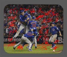 Item#5492 Cubs Celebration Team AU Chicago Cubs Facsimile Autographed Mouse Pad