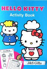 Hello Kitty Fun Colouring Activity Book Fun Puzzles Word Search Crosswords-Blue