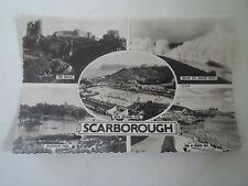 Vintage Real Photo Postcard Multi-View Scarborough Franked+Stamped 1958