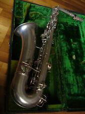 """,, Chu Berry"""" ~ plata vintage tenor C melodía saxofón c.g Conn ~ made in USA"""