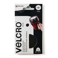 VELCRO HEAVY DUTY SELF ADHESIVE STICK ON COINS / DOTS 45mm CIRCLE