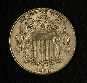 1883 5c Shield Nickel - Free Shipping USA