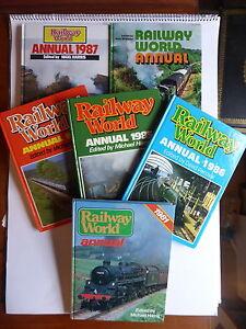 RAILWAY WORLD ANNUALS 1973, 1981, 1984, 1985, 1986, 1987