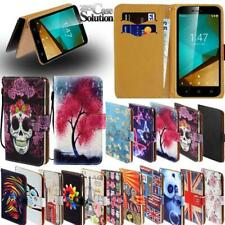 Flip Leather Card Wallet Stand Cover Phone Case For Vodafone Smart Phones
