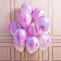 "10Pcs 12"" Colorful Agate Latex Balloons Party Tie-Dye Baby Birthday Decor Fashio"