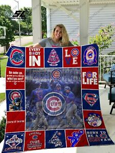 Chicago Cubs Quilt Blanket Thank Gift For Fan Unique Lover Gift
