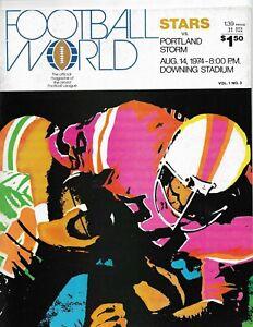 8/14/74 NEW YORK STARS vs PORTLAND STORM WFL INAUGURAL YEAR Program NICE