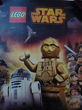 Lego Star Wars Droid Tales Promo Poster New C-3Po R2 D2 11 x 17 Inches Disney