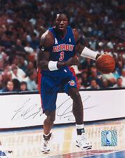 Detroit Pistons 8x10 Photo Set 4 signed - Wallace, Barry, Williamson, Rebraca