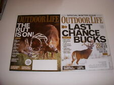 OUTDOOR LIFE Magazine, LOT OF 2, 2011, LAST CHANCE BUCKS, SPECIAL WINTER ISSUE!