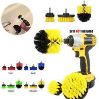 Car Wash Brush Hard Bristle Drill Auto Detailing Cleaning Tools 3pcs/set
