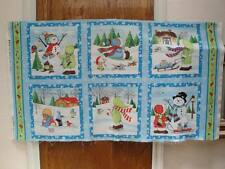 Snow Babies Panel by Wilmington Prints - Snowmen-Children-Play