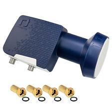 DIGITAL TWIN PLL LNB LNC LMB 2-fach Inverto Premium Ultra HD 4K 8K + 4xF-Stecker