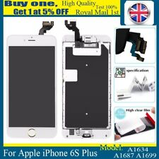 For iPhone 6s plus LCD Screen Touch Digitizer With Gold Home Button Camera White