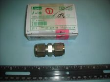 "PARKER A-LOK P/N 8SC8-S Steel Union Couple Connector for 1/2"" O.D. Tube."