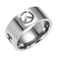 Stainless steel Overwatch ring size 7-12 Stylish fashionable sleek band logo