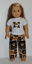 AMERICAN MADE DOLL CLOTHES FOR 18 INCH GIRL DOLLS DRESS LOT MIZZOU- PJS