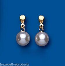 Perla pendientes Clásico perla pendientes Perla Oro Amarillo pendientes