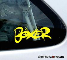 """2x """"boxer"""" graffiti stickers voiture idéal pour subaru impreza wrx, legacy turbo, brz"""