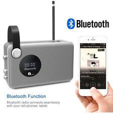 1byone Bluetooth digital Radio- tragbar DAB FM UKW-Empfang Wecker mit Akku