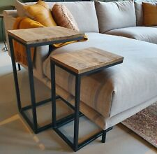 2er Set Side Tables Coffee Tables Jordy Sofa Table Table Metal Mango Wood Solid