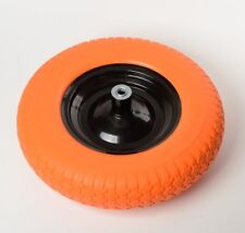 "16"" Flat Free Wheel Barrow Wheelbarrow Tire Solid Foam 5/8 Axle Cart Wagon NEW"
